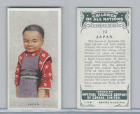 C6 Imperial Tobacco, Children Of All Nations, 1924, #23 Japan
