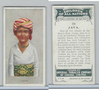 C6 Imperial Tobacco, Children Of All Nations, 1924, #24 Java