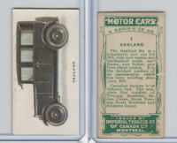 C22 Imperial Tobacco, Motor Cars, 1921, #1 Oakland