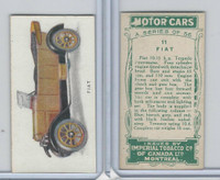 C22 Imperial Tobacco, Motor Cars, 1921, #11 Fiat