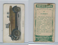 C22 Imperial Tobacco, Motor Cars, 1921, #17 Humber