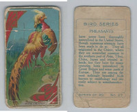 C45 Imperial Tobacco, Bird Series, 1910, #27 Pheasant