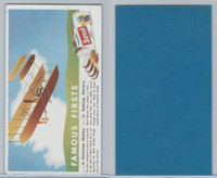 D280-3 Bond Bread, Famous Firsts Blotters, 1950's, Airplane