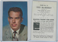 D57 Mother's Cookies, Movie Star Trading Cards, 1953, #21 Fred MacMurray