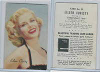 D57 Mother's Cookies, Movie Star Trading Cards, 1953, #22 Eileen Christy