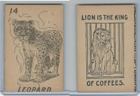 K Card Lion Coffee, Old Maid Card Game Animals, 1890, #14 Leopard