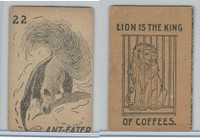 K Card Lion Coffee, Old Maid Card Game Animals, 1890, #22 Ant-Eater