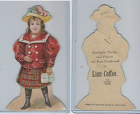 K33 Lion Coffee, Die Cut Design, Doll House, 1890, Dining Room, #7 Girl (C)