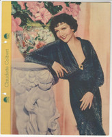 F5-1 Dixie Cup, Premium, 1935, Movie Stars, Claudette Colbert