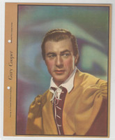 F5-4 Dixie Cup, Premium, 1938, Movie Stars, Gary Cooper