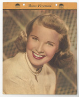 F5-15 Dixie Cup, Premium, 1949, Movie Stars, Mona Freeman