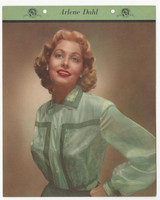 F5-17 Dixie Cup, Premium, 1951, Movie Stars, Arlene Dahl