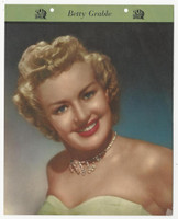F5-17 Dixie Cup, Premium, 1951, Movie Stars, Betty Grable
