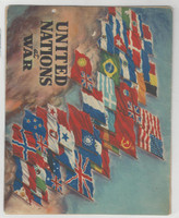 F6-4 Dixie Cup, Premium, 1944, United Nations At War, Front & Back Covers