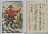 F279-4 Quaker Oats, Sergeant Preston Cards, 1956, #1 Sgt. Preston & King
