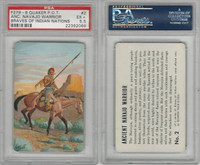 F279-8 Quaker, Braves of Indian Nations, 1956, #2 Navajo Warrior, PSA 5.5