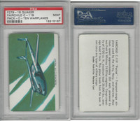 F279-18 Quaker, Pack-O-Ten Warplanes, 1957, Fairchild, PSA 9 Mint