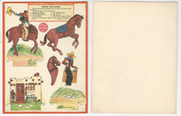 F273-14c Kellogg Kut-Outs - Western & Indians, 1930's #1 Riding The Range