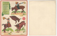 F273-14c Kellogg Kut-Outs - Western & Indians, 1930's #3 At The Rodeo