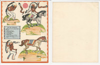 F273-14c Kellogg Kut-Outs - Western & Indians, 1930's #4 On The Warpath