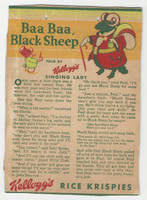F273-37b Kellogg, Mother Goose Stories, 1933, Baa Baa Black Sheep