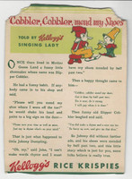 F273-37b Kellogg, Mother Goose Stories, 1933, Cobbler Cobbler