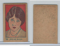 W512 Strip card, Famous People, 1926, #11 Irene Rich