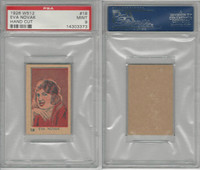 W512 Strip card, Famous People, 1926, #18 Eva Novak, PSA 9 Mint