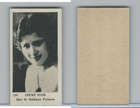 W Cards, Movie Stars, (Like Strollers), 1920's, #134 Irene Rich