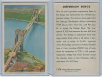 W608-5 Educational, Modern Wonders, 1950's, #12 Suspension Bridge