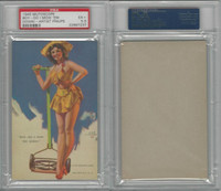 W424-2b Mutoscope, Artist Pin-Up Girls, 1945, Boy-Do I Mow, PSA 5.5 EX+