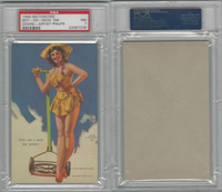 W424-2b Mutoscope, Artist Pin-Up Girls, 1945, Boy-Do I Mow, PSA 7 NM