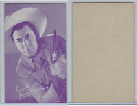 W Card, Cowboys Stars, Magenta, 1950's, Johnny Mack Brown (Gun Points Up)
