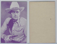 "W Card, Cowboys Stars, Magenta, 1950's, Bill ""Radio"" Boyd"