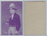 W Card, Cowboys Stars, Magenta, 1950's, Dead Shot Gets The Drop