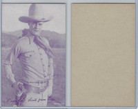 W Card, Cowboys Stars, Magenta, 1950's, Dead Shot Shoots From Hip