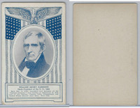 W Card, Exhibit, Famous Americans, 1920's, William Henry Harrison