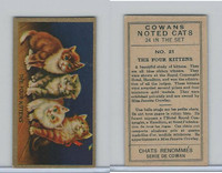V17 Cowan's, Noted Cats, 1925, #21 The Four Kittens