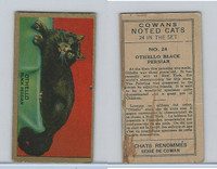 V17 Cowan's, Noted Cats, 1925, #24 Othello Black Persian
