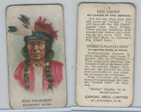 V118 Ganong Bros., Big Chiefs, Indians, 1939, #2 Red Thunder, Sioux