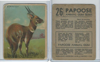 V255 Canada Chewing Gum, Papoose Animal Gum, 1935, #26 Bushbuck