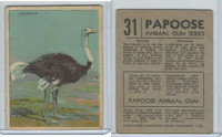 V255 Canada Chewing Gum, Papoose Animal Gum, 1935, #31 Ostrich