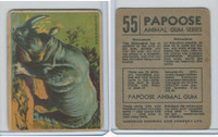 V255 Canada Chewing Gum, Papoose Animal Gum, 1935, #55 Rhinoceros