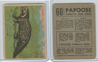V255 Canada Chewing Gum, Papoose Animal Gum, 1935, #60 Civet Cat