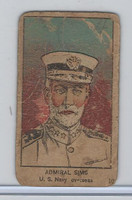 W545, World War I Leaders, Scenes, Insignia, 1920's, #10 Admiral Sims