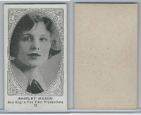 W585, Movie Stars, Blank Backed, 1921, #12 Shirley Mason
