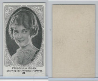 W585, Movie Stars, Blank Backed, 1921, #25 Priscilla Dean