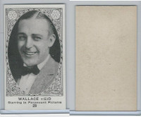 W585, Movie Stars, Blank Backed, 1921, #26 Wallace Reid