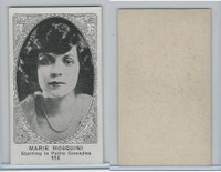 W585, Movie Stars, Blank Backed, 1921, #114 Marie Mosquini