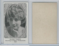 W585, Movie Stars, Blank Backed, 1921, #116 Alice Terry